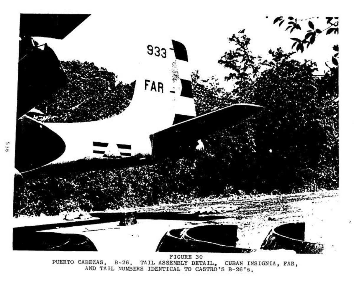 "Douglas A-26 Invader ""B-26"" bomber aircraft disguised as a Cuban model in preparation for the Bay of Pigs Invasion"