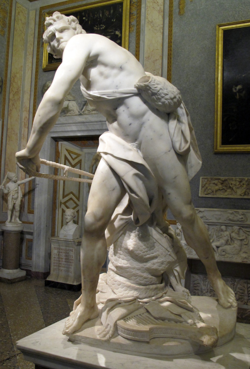 Baroque sculpture of David by Berini.