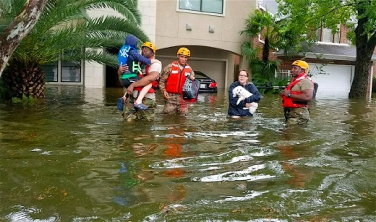 More than 35,000 people were rescued from flooded homes.