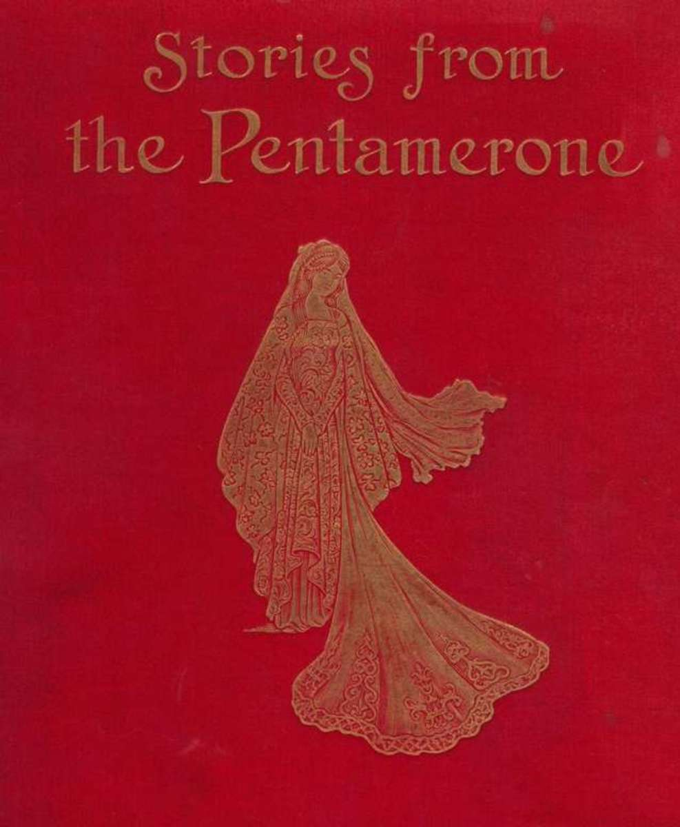 The cover of Pentamerone published at the end of the 19th century