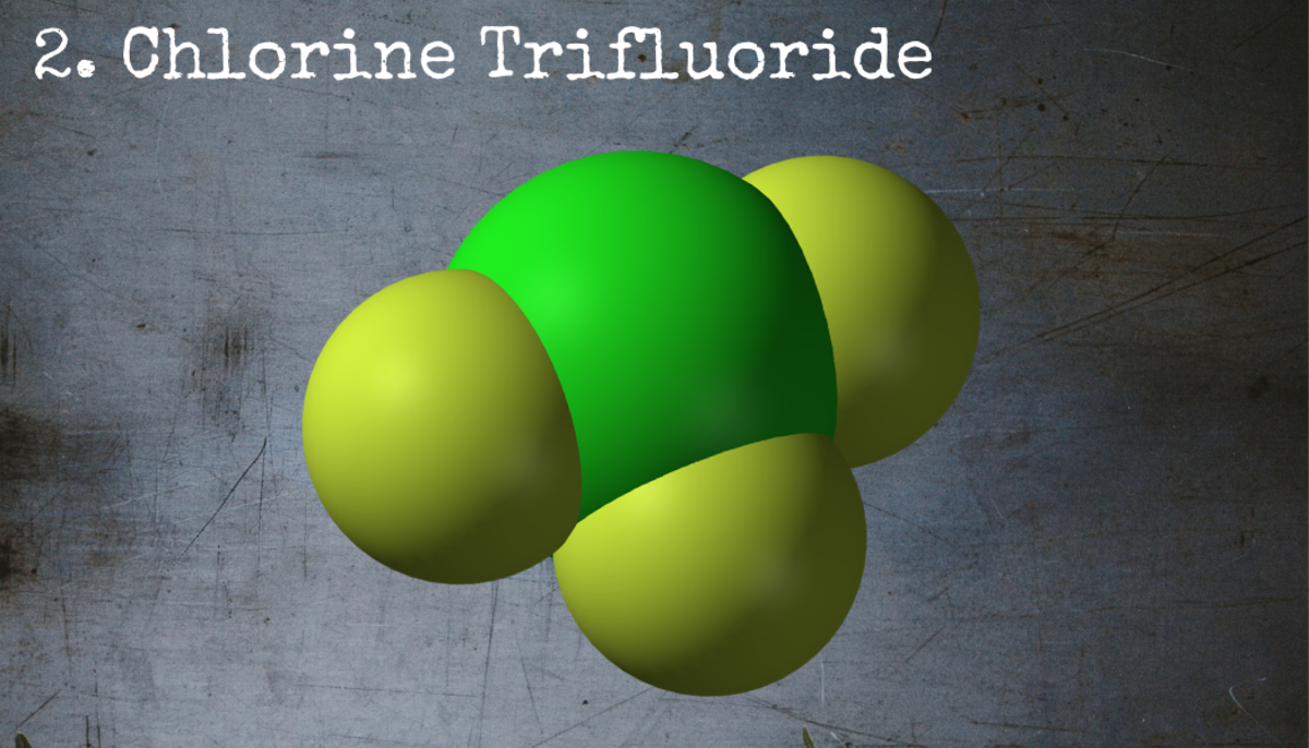 Chlorine trifluoride, first discovered by the Nazis during WWII, is corrosive enough to eat through concrete.