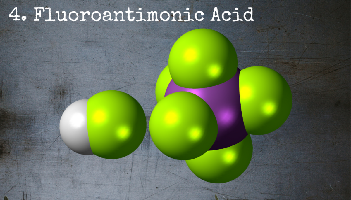 Fluoroantimonic acid is so corrosive that it cannot be stored or studied in the glass containers typically used by chemists.