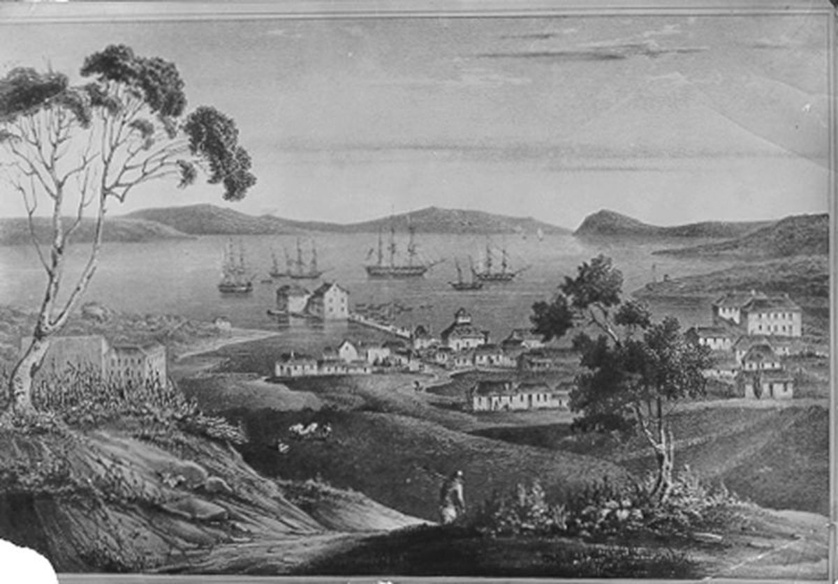 This view of Hobart in the 1820s was created by a transported felon named Alan Carswell.