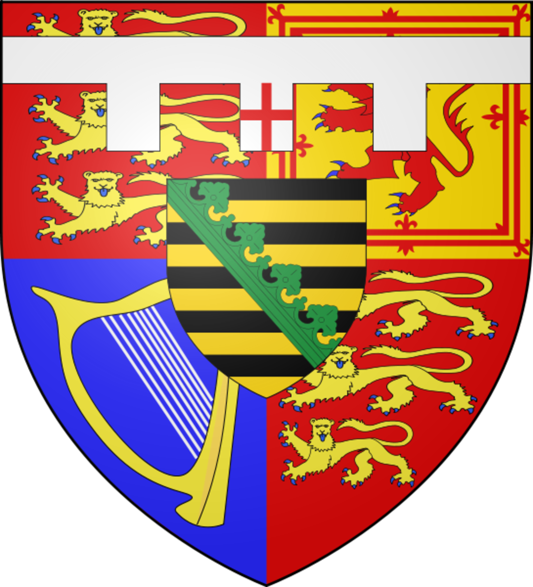 Coat of arms of the Duke of Clarence.