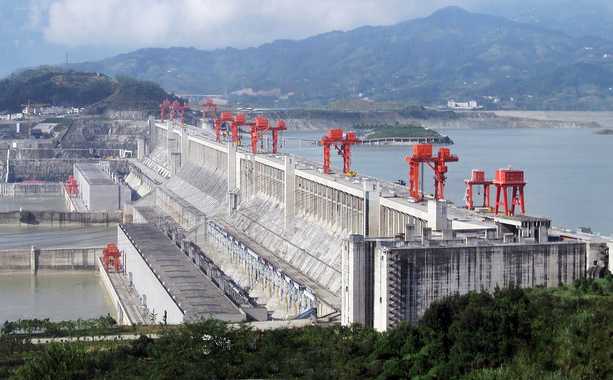 China's Three Gorges Dam is the world's biggest concrete structure.