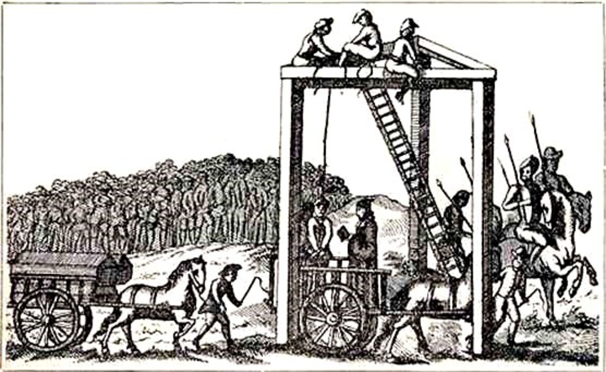 A public execution at 'Tyburn Tree'