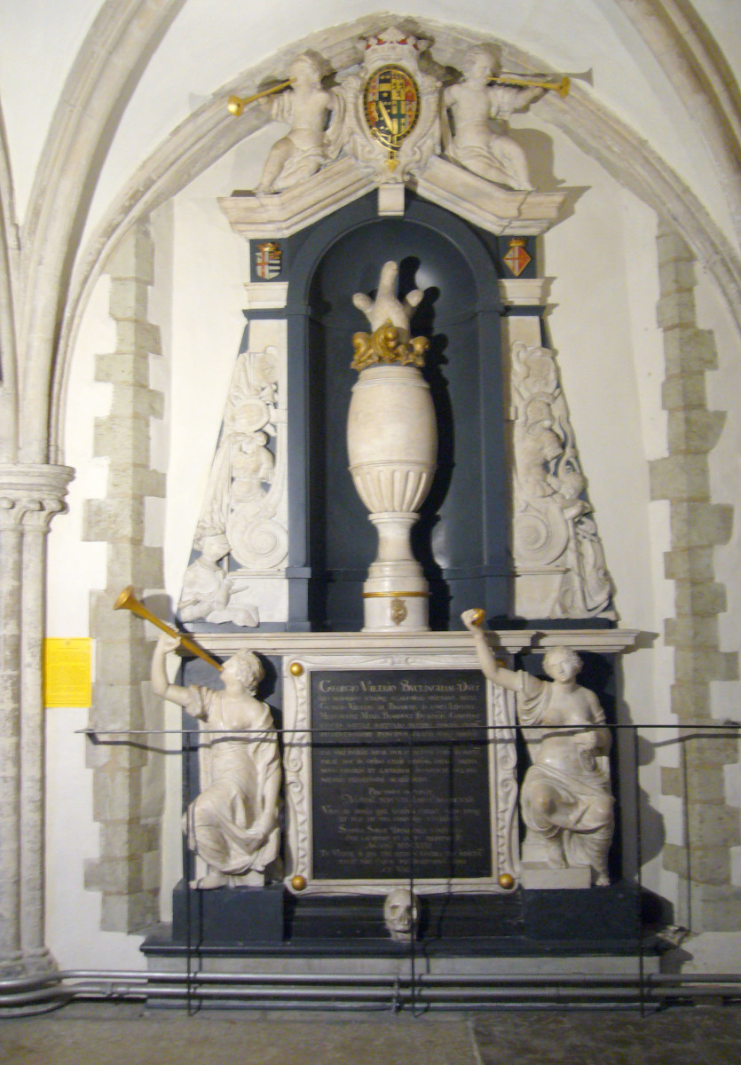 The monument to George Villiers, Duke of Buckingham at Portsmouth Cathedral