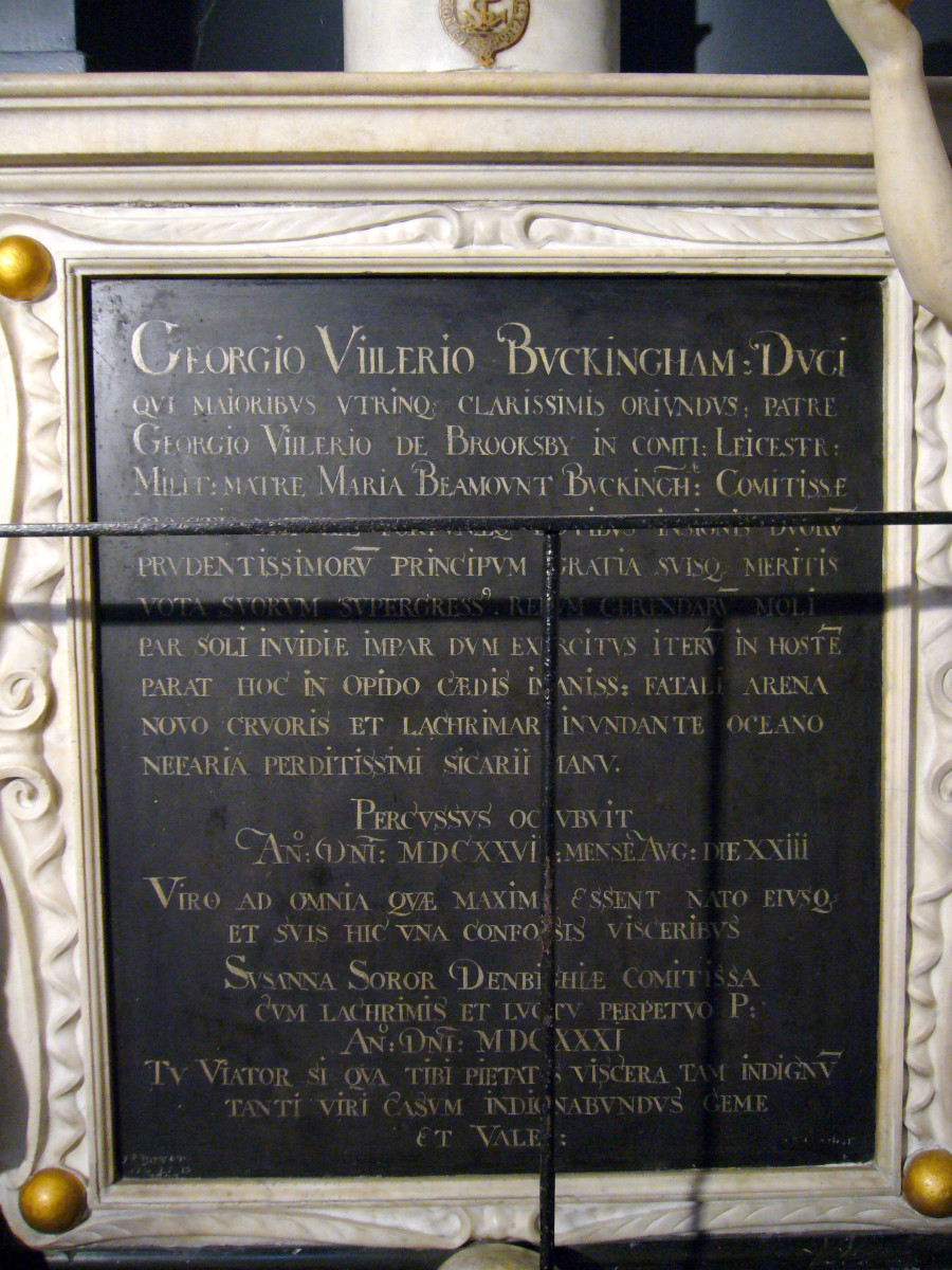 The epitaph to the Duke of Buckingham