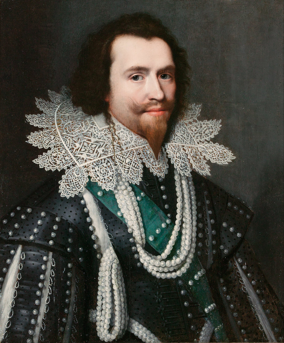 Painted shortly before his death, Michiel J. van Miereveld's pearl-studded portrait of the Duke, 1625