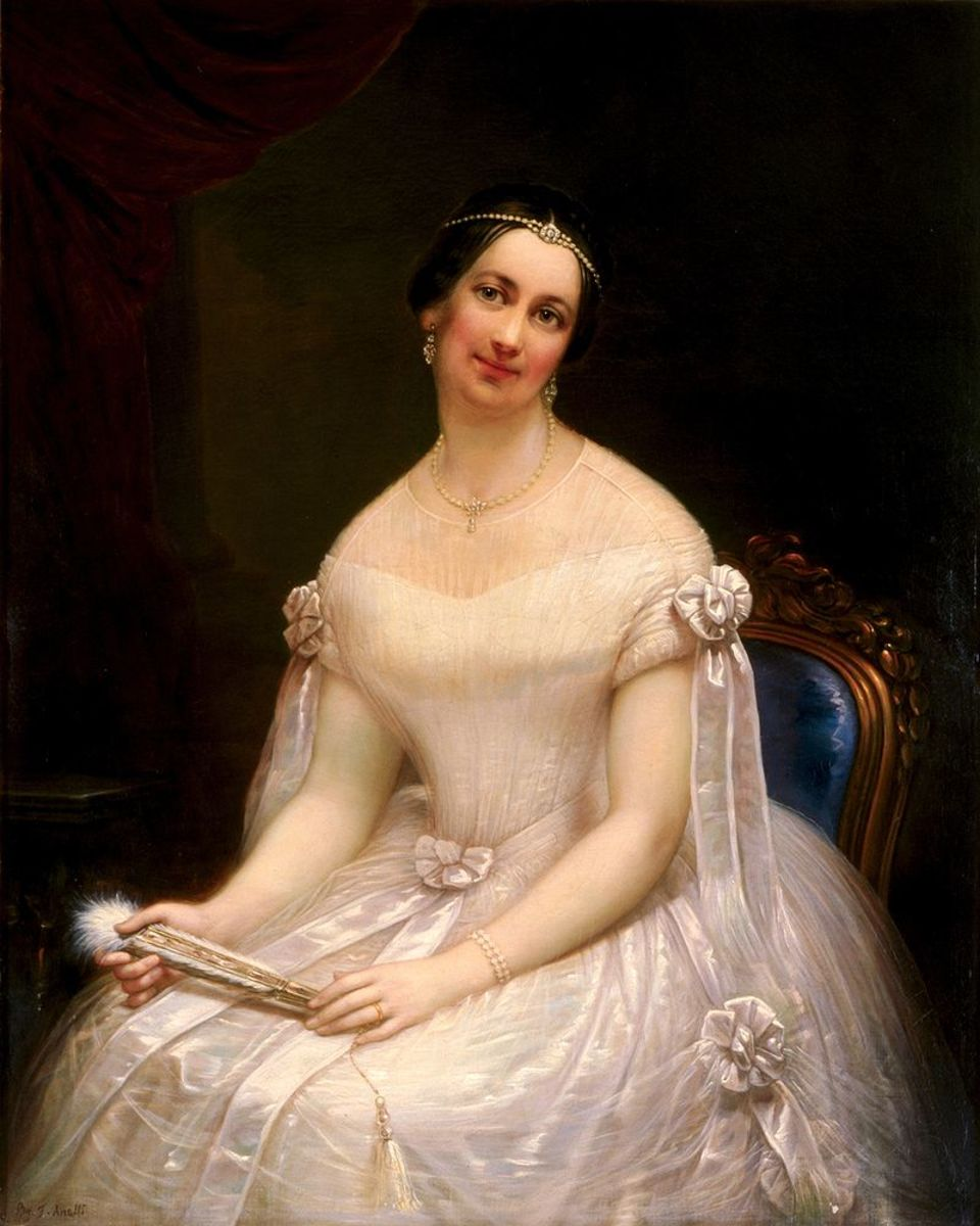 Julia Tyler as first lady of the United States.