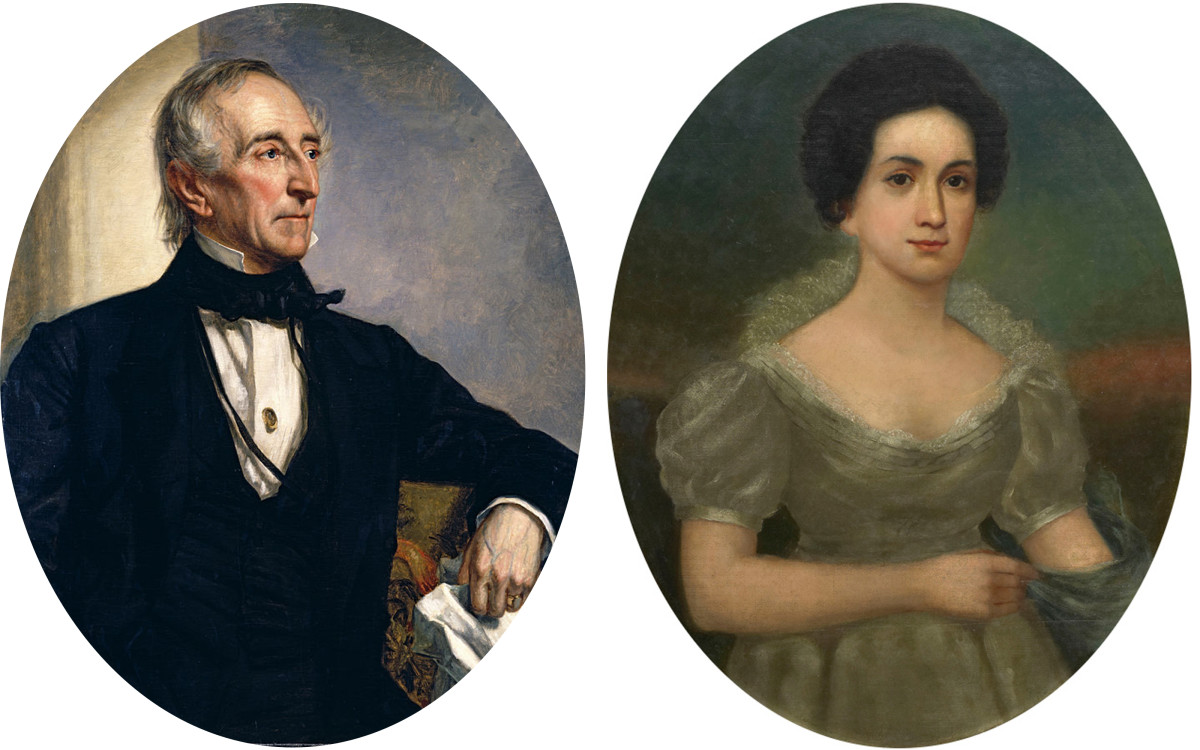 John and Letitia Tyler.