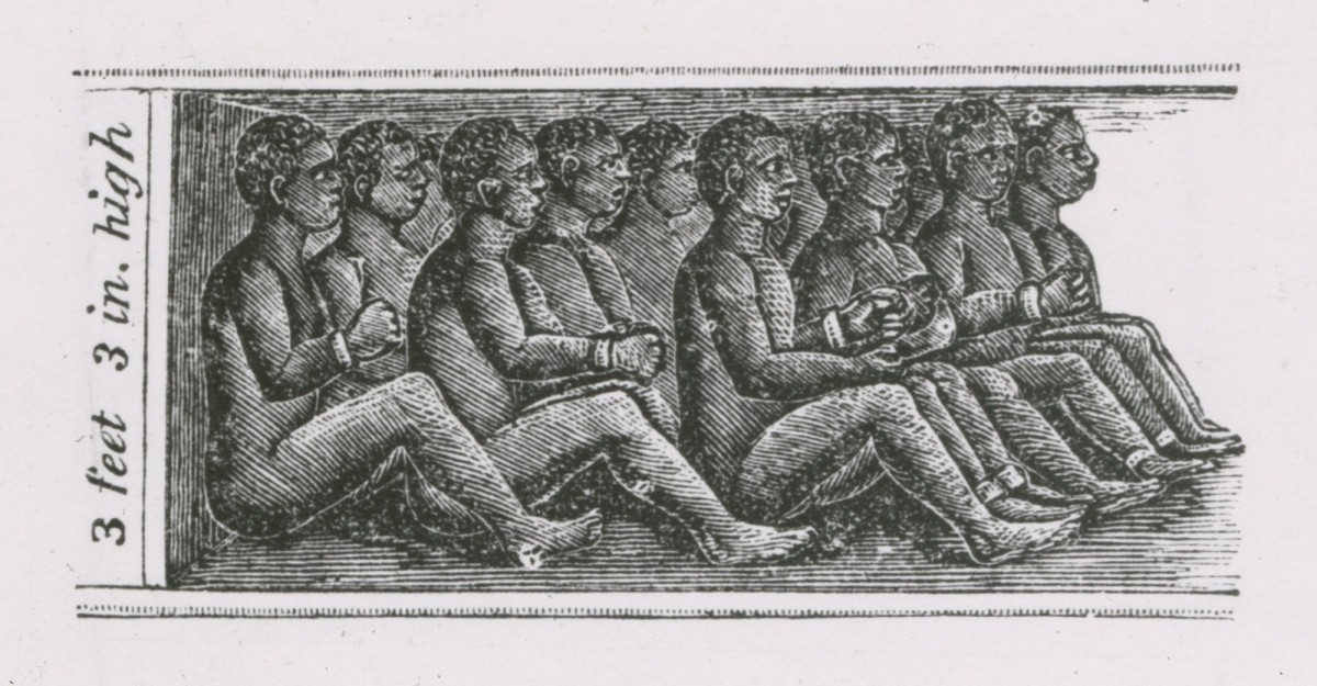 The atrocious conditions aboard a slave ship.