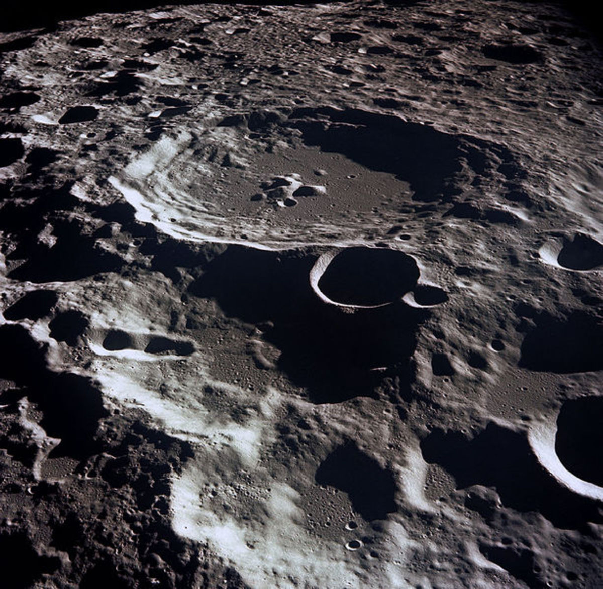 Craters on the Moon.