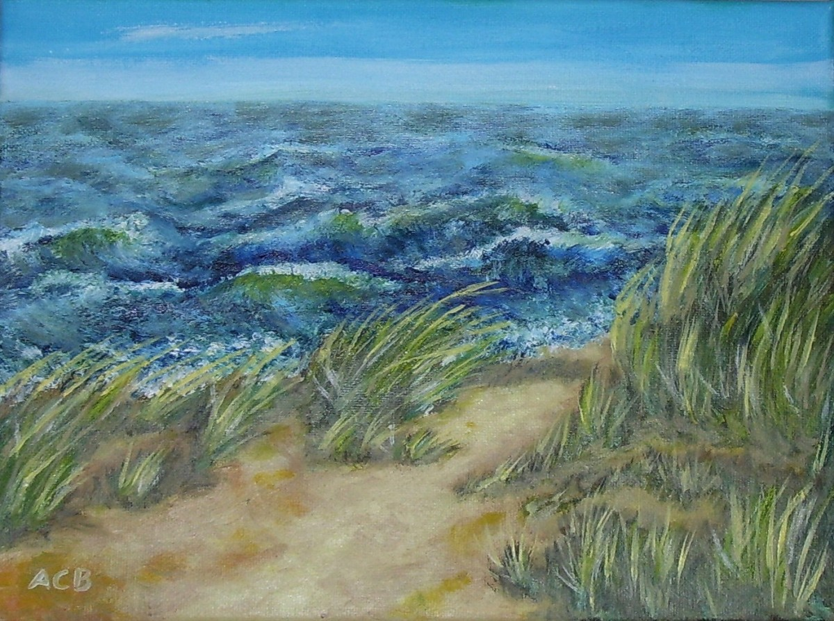 """High Tide"" by Adele Cosgrove-Bray; oil on canvas; 2019."