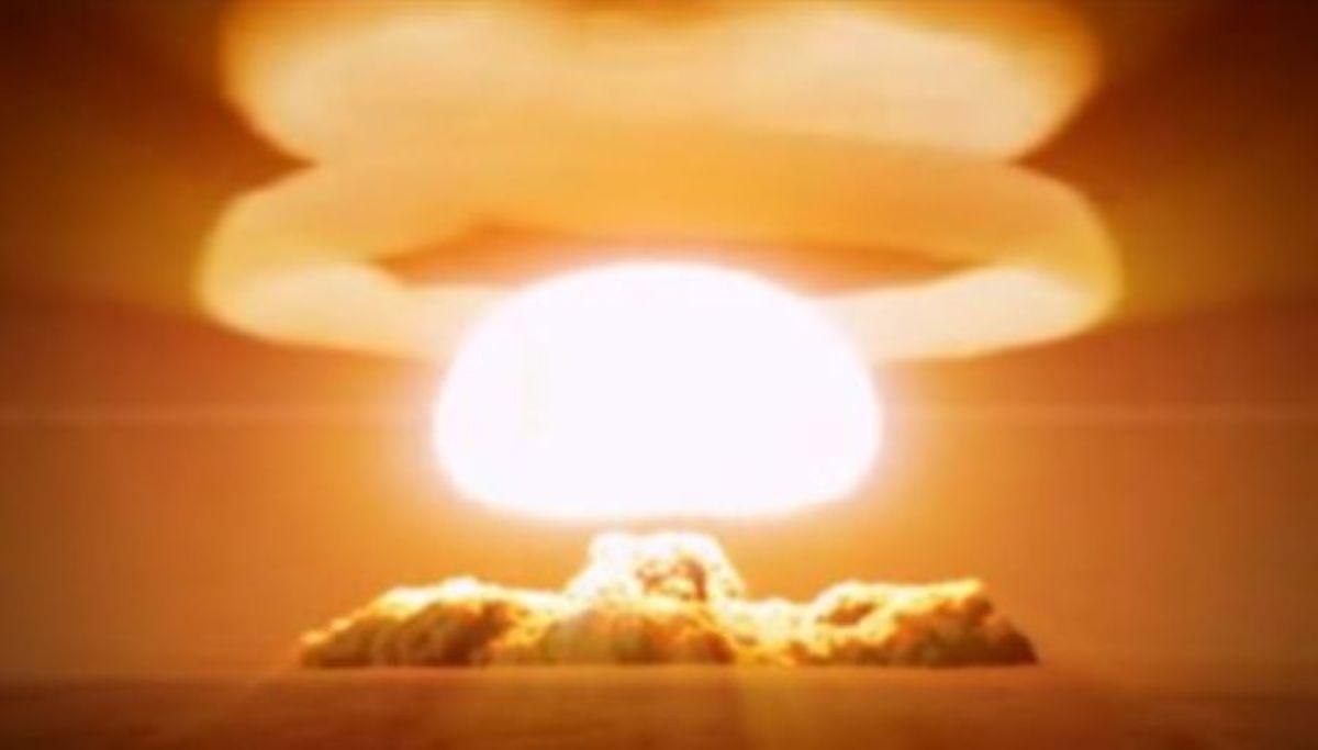 Tsar Bomba's mushroom cloud.