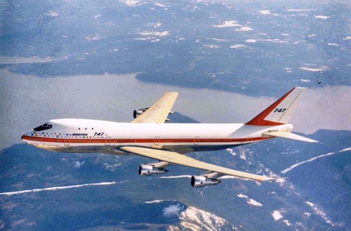 Maiden flight of the Jumbo Jet.