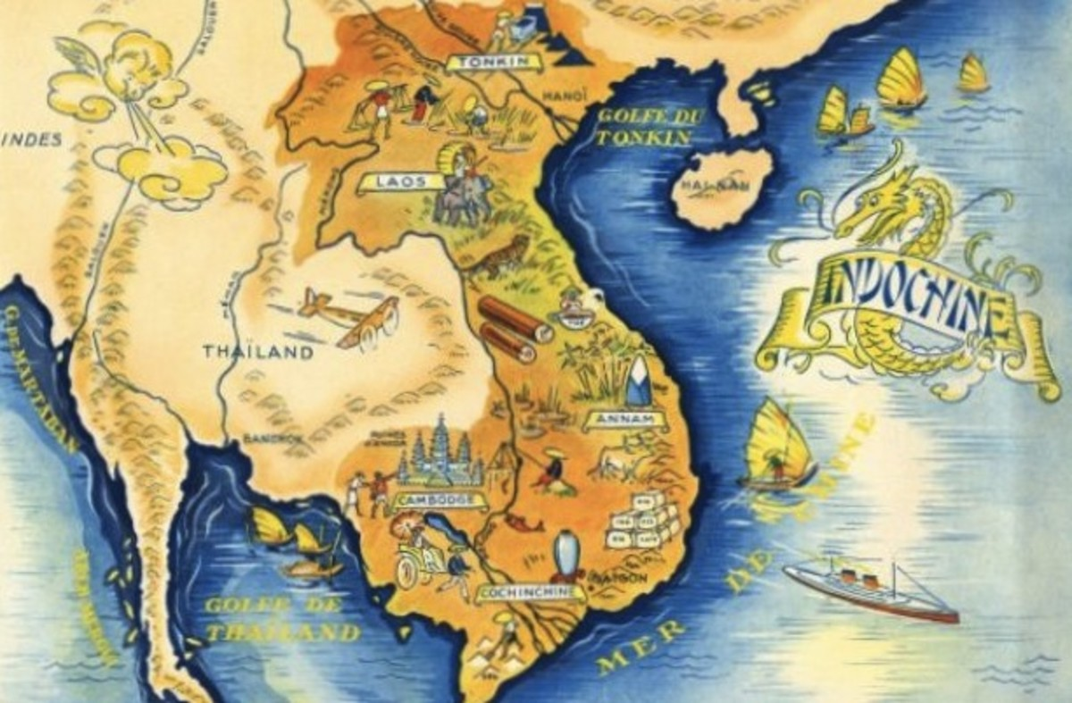 A fanciful depiction of French Indochina