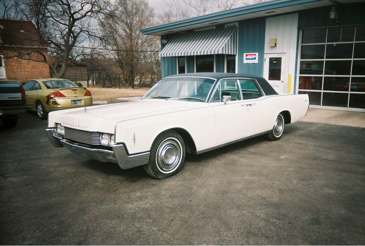 The 1968 Lincoln Continental owned initially by  Mrs. Crensahw was used by Dr. King.  The photo shows the vehicle sitting at Al's Auto Body Experts after restoration at the shop.
