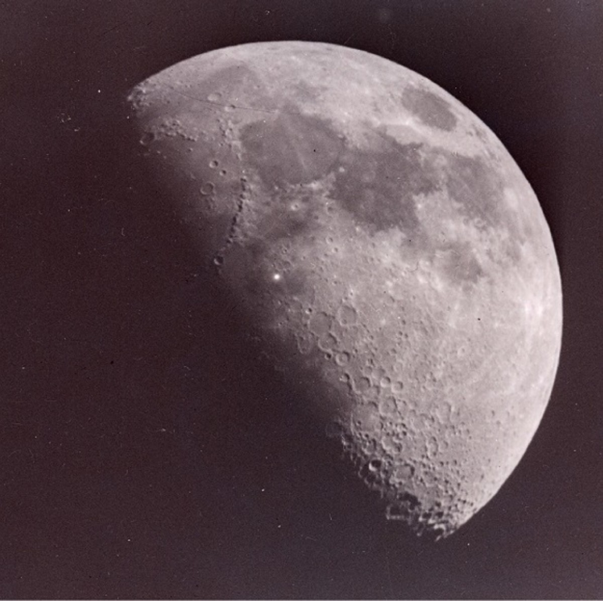 Astronomer Leon Stuart's photo of the Moon with mystery white speck taken on 15 November, 1953.