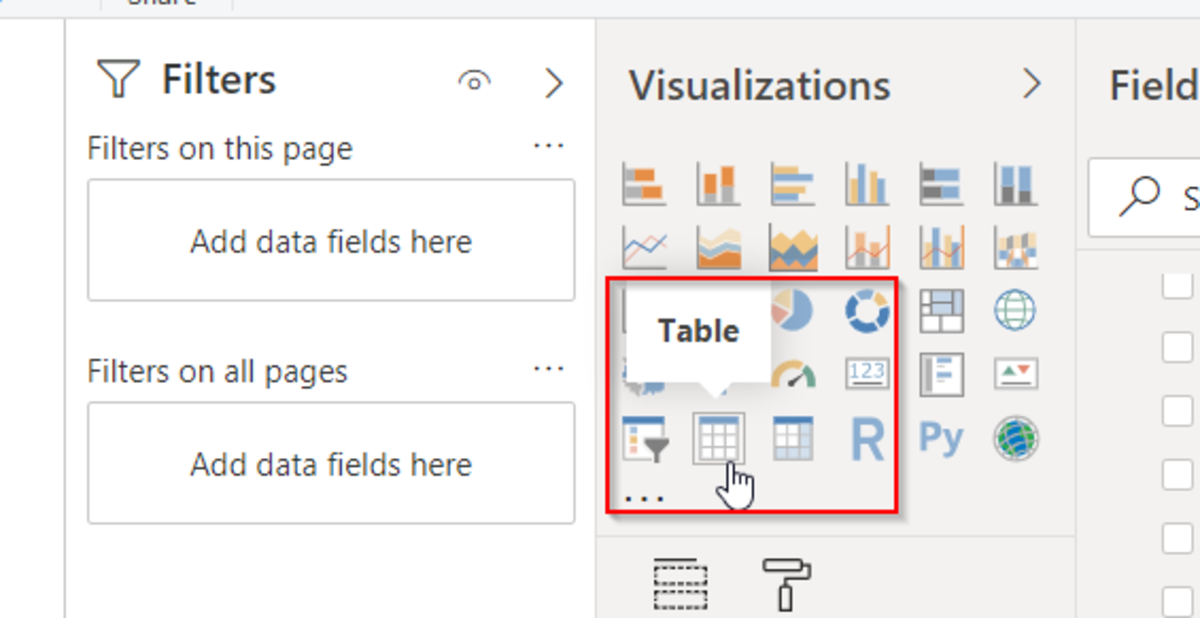 Table component