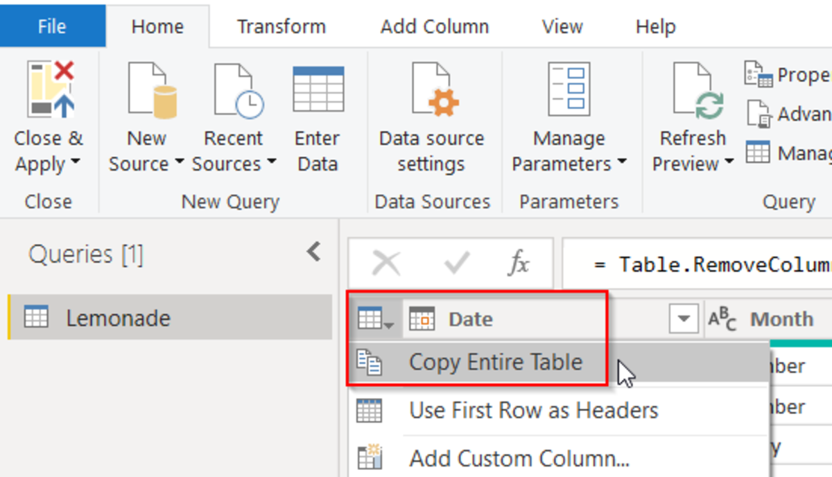 Copy Entire Table