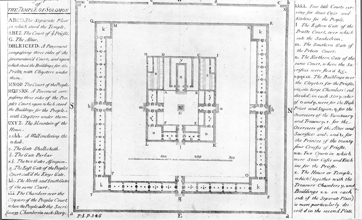 Newton's drawing of Solomon's Temple.
