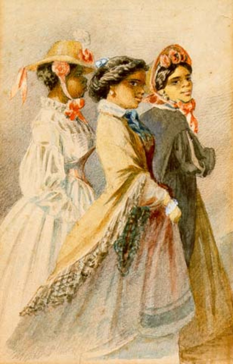 Edouard Marquis painted these New Orleans Creole women in 1867.