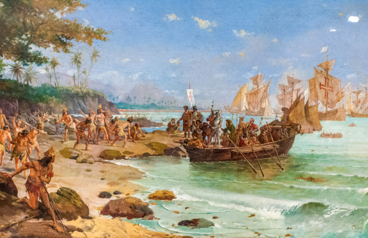 Portuguese explorer Pedro Álvares Cabral arrives in Brazil; but how to communicate with the locals?
