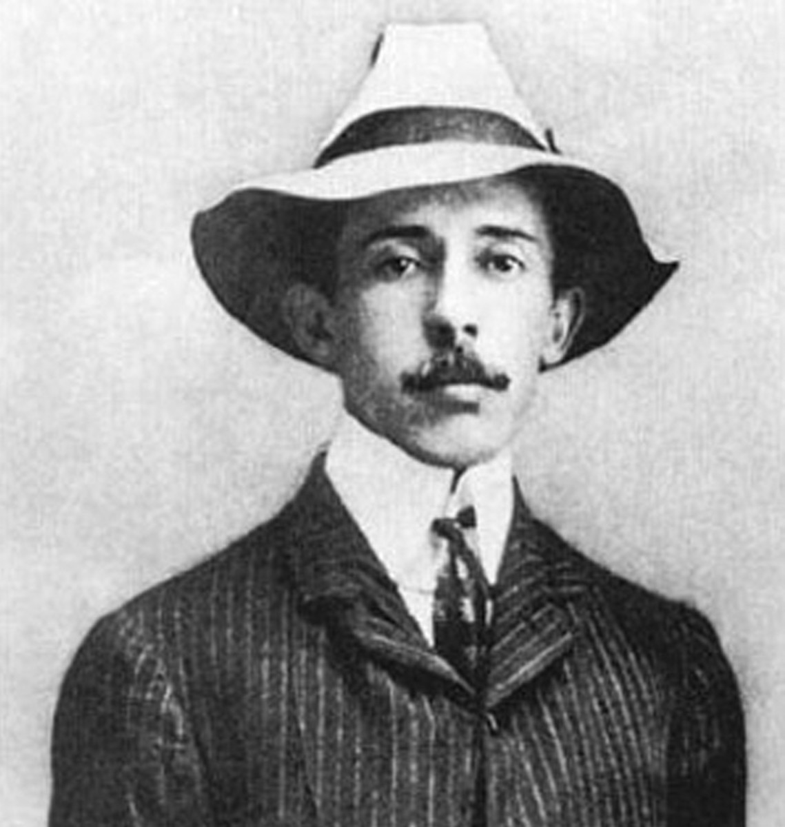 Alberto Santos-Dumont, a man with more the look of an impressionist painter than a daring aviator.