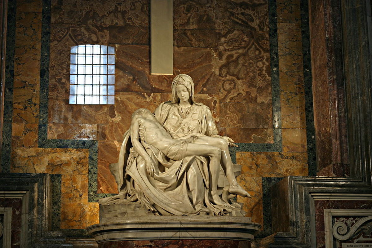 In her grief Maurya re-enacts the pieta, the scene of mother Mary mourning the death of Jesus.