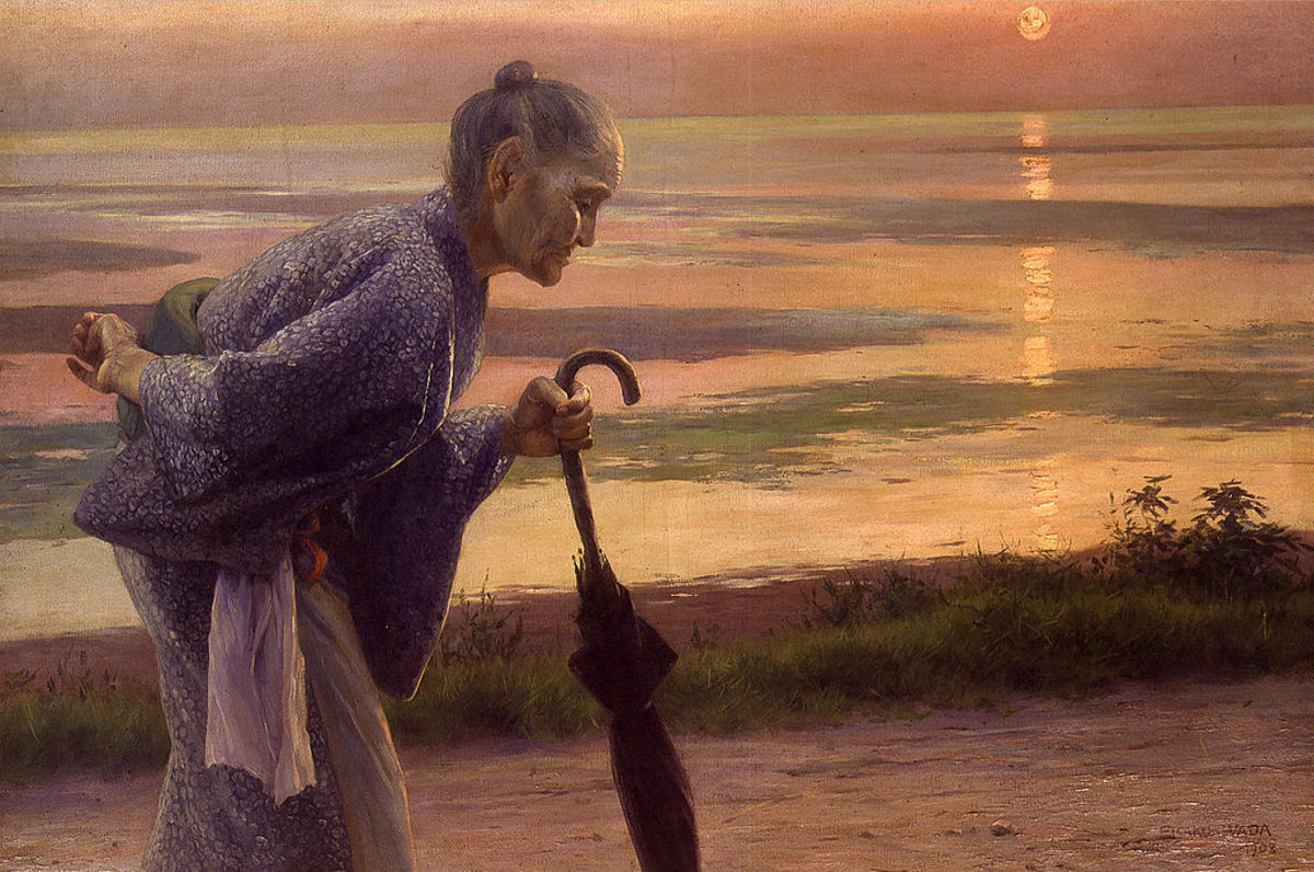 Maurya becomes the archetypal figure of the lonely mother, waiting by the sea of life, representing loss, grief and a realization that death is an integral part of life.