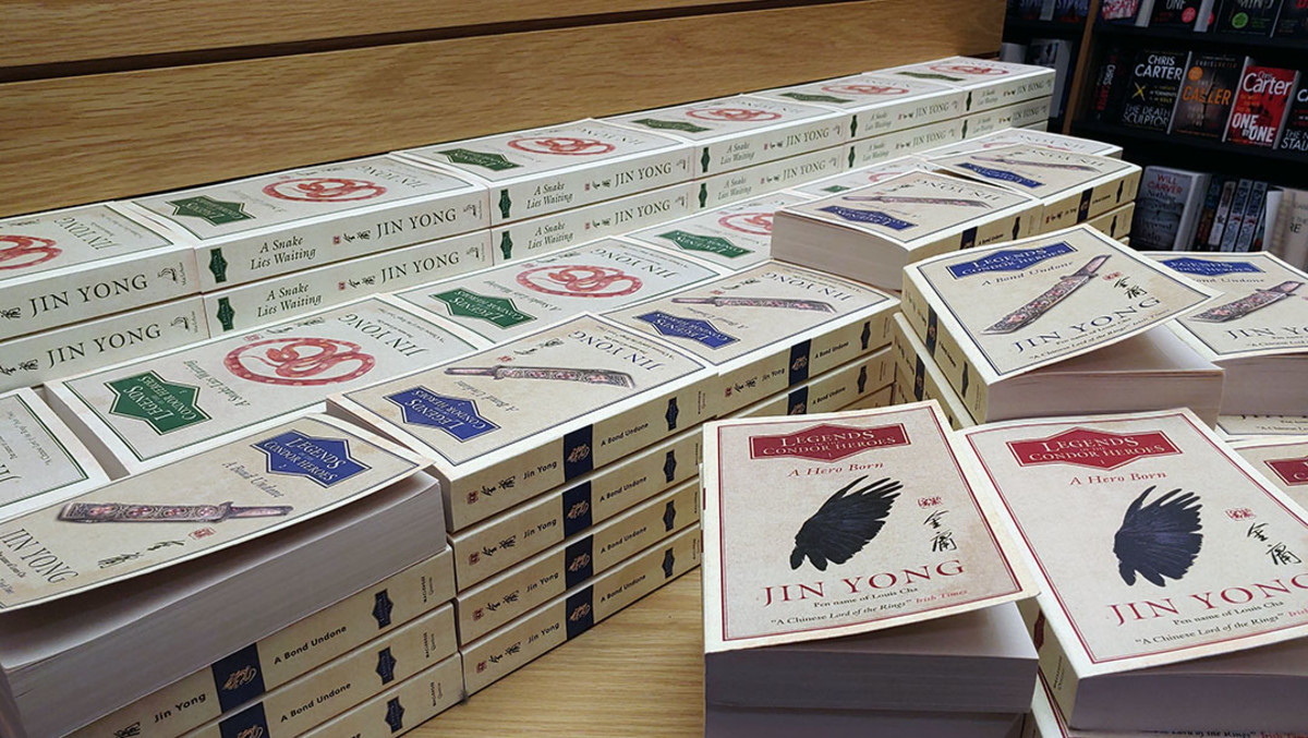 Legend of the Condor Heroes, English editions. The saga is divided into multiple books.