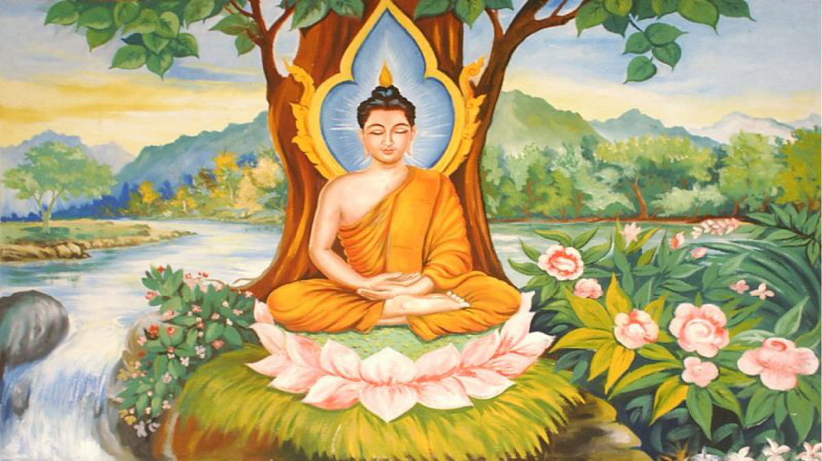 Gautama Buddha in meditation, author unknown