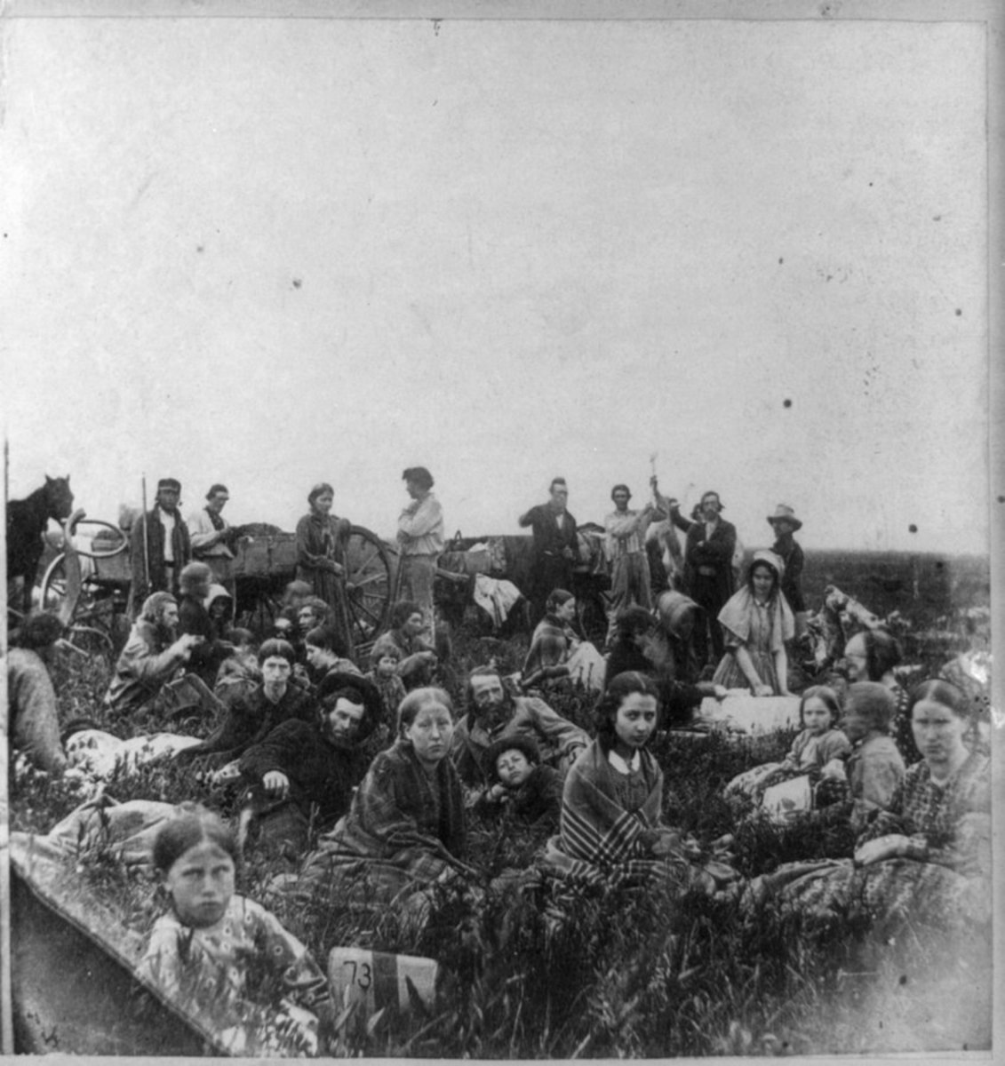 White refugees fleeing the violence of the Sioux Uprising.