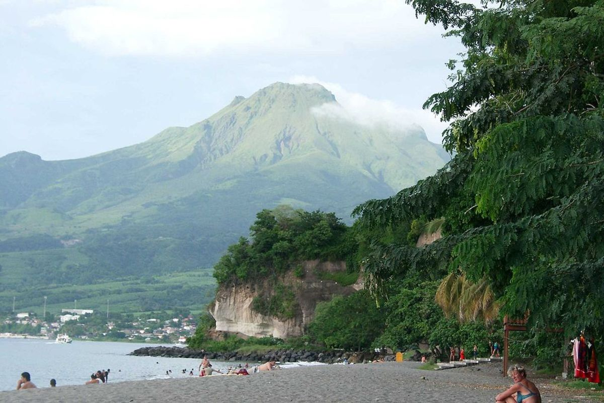 Though quiet today, back in 1902, Mt Pelee of Martinique erupted with a violent fury that wiped out the nearby port of Saint Pierre, population 28,000.