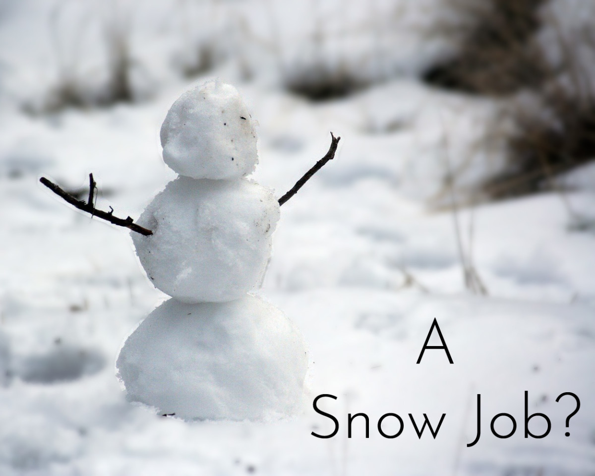 What does snow job mean?