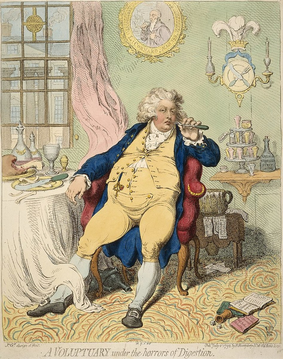 George IV was often mocked by caricaturists and the public alike for his corpulence.