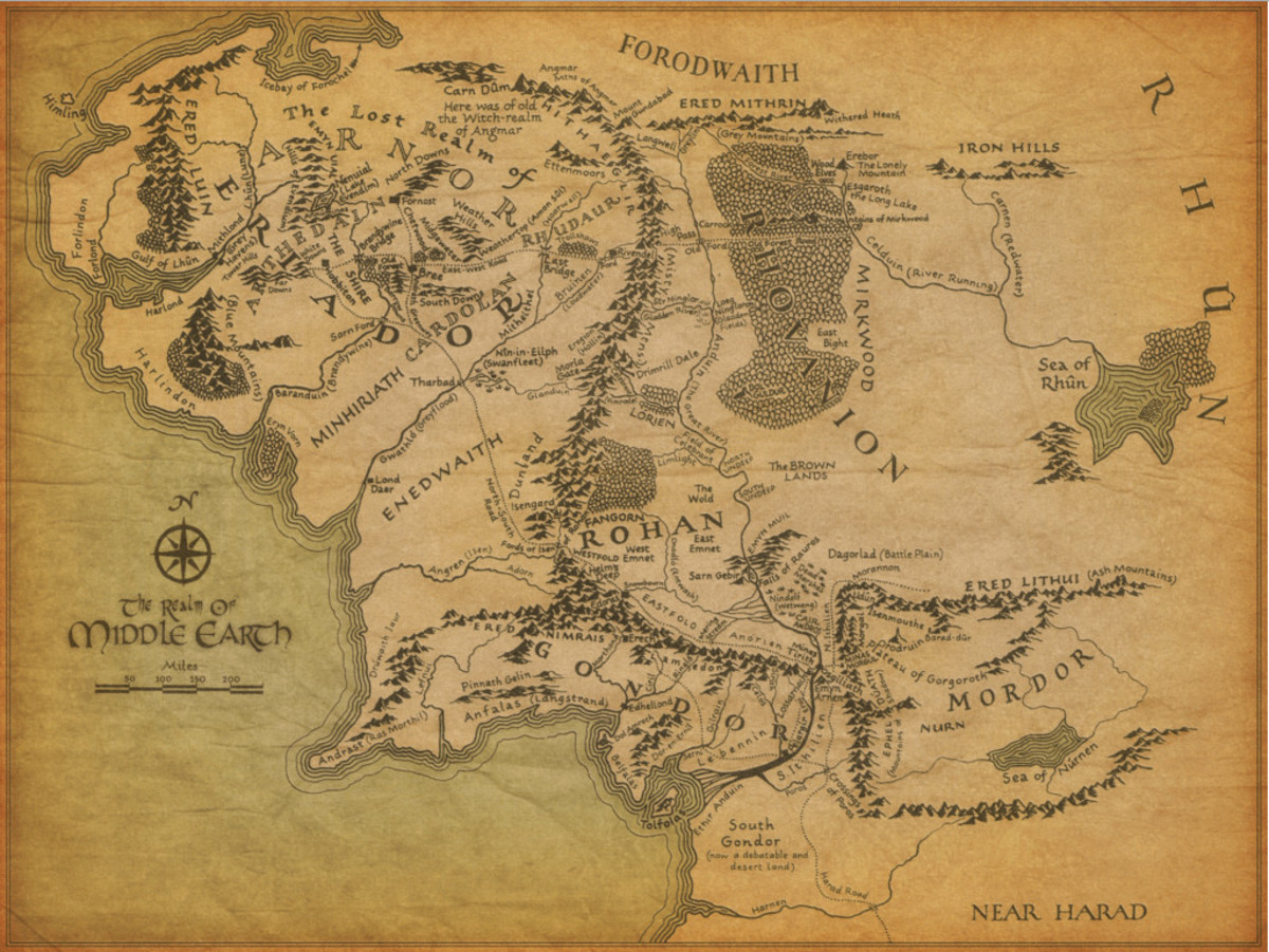 """A Map of Middle-earth"" by Barbara Remington"