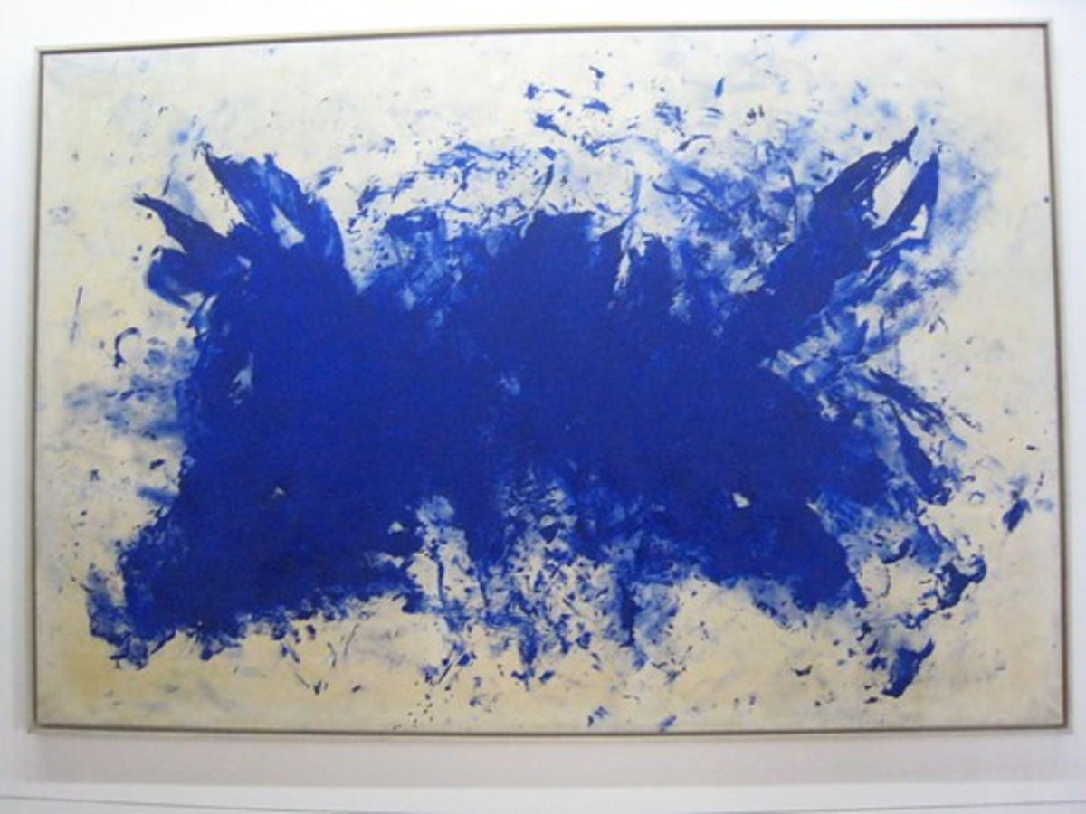 "The Yves Klein masterpiece ""Le Buffle."""