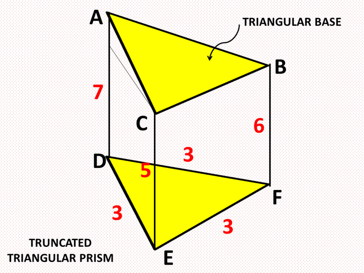 Surface Area and Volume of a Truncated Triangular Prism
