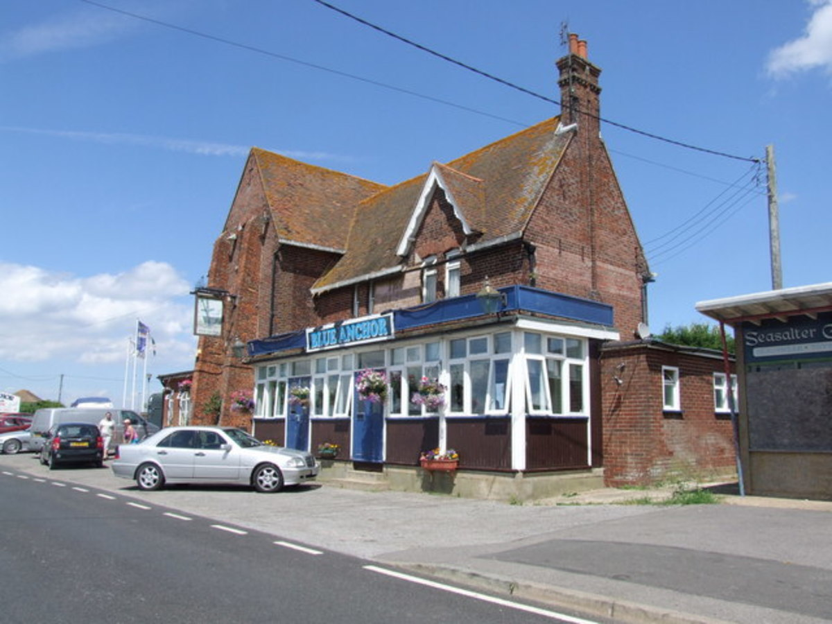 The Blue Anchor of today is a Victorian building.