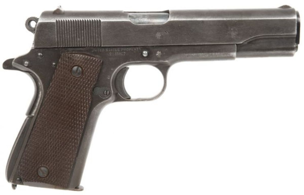 The M1911, the pistol used by Baggett.