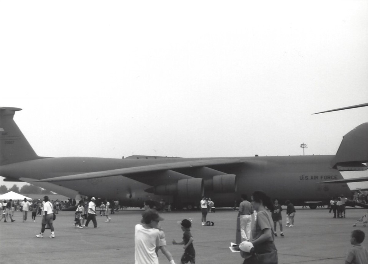 A C-5 at Andrews AFB, MD, circa 1990.