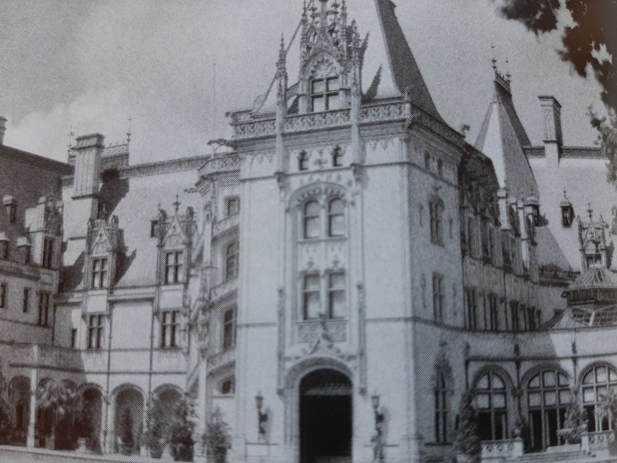 A Portion of the front entrance of Biltmore