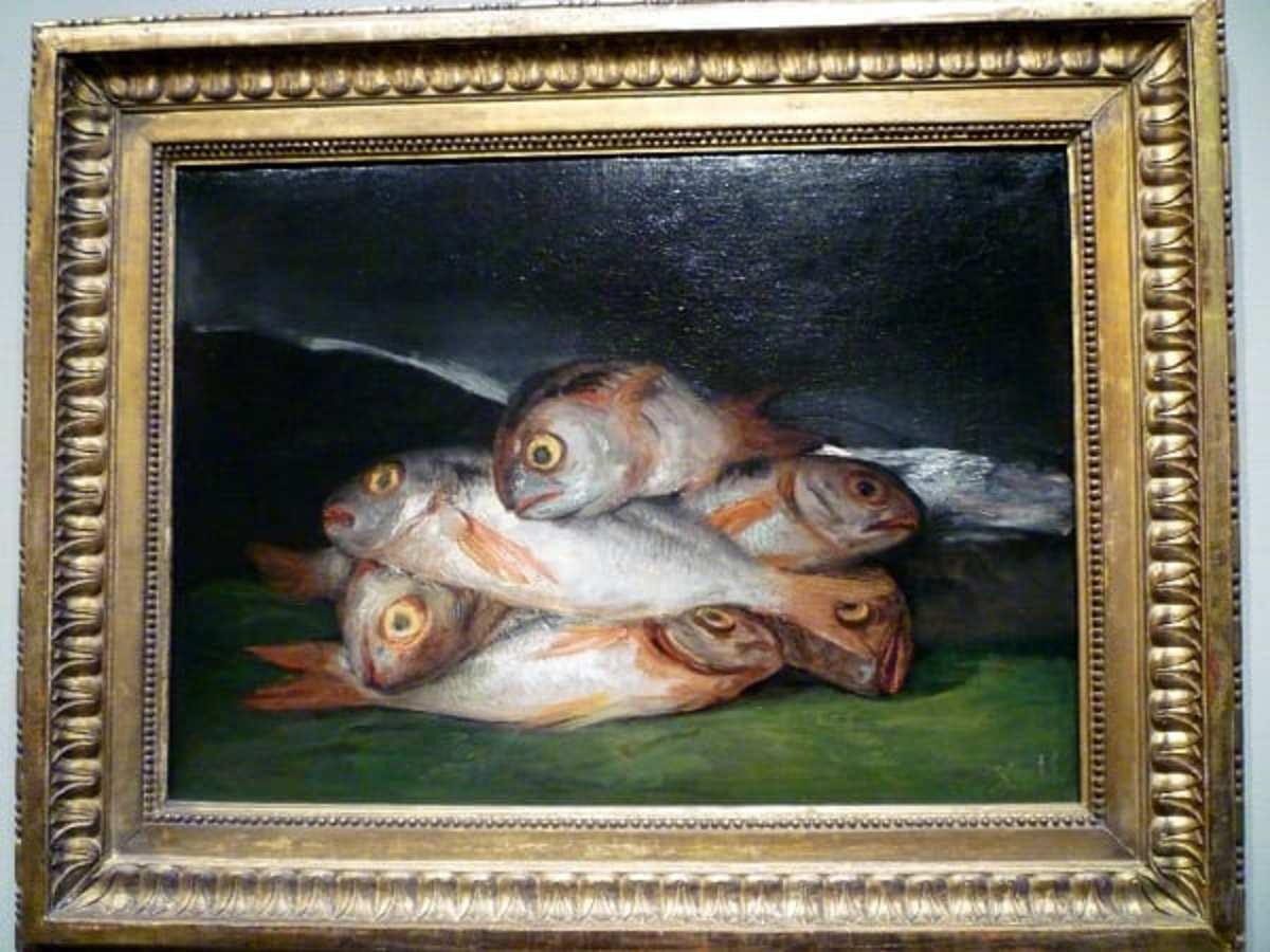 Still Life with Golden Bream by Francisco de Goya at the Museum of Fine Arts Houston