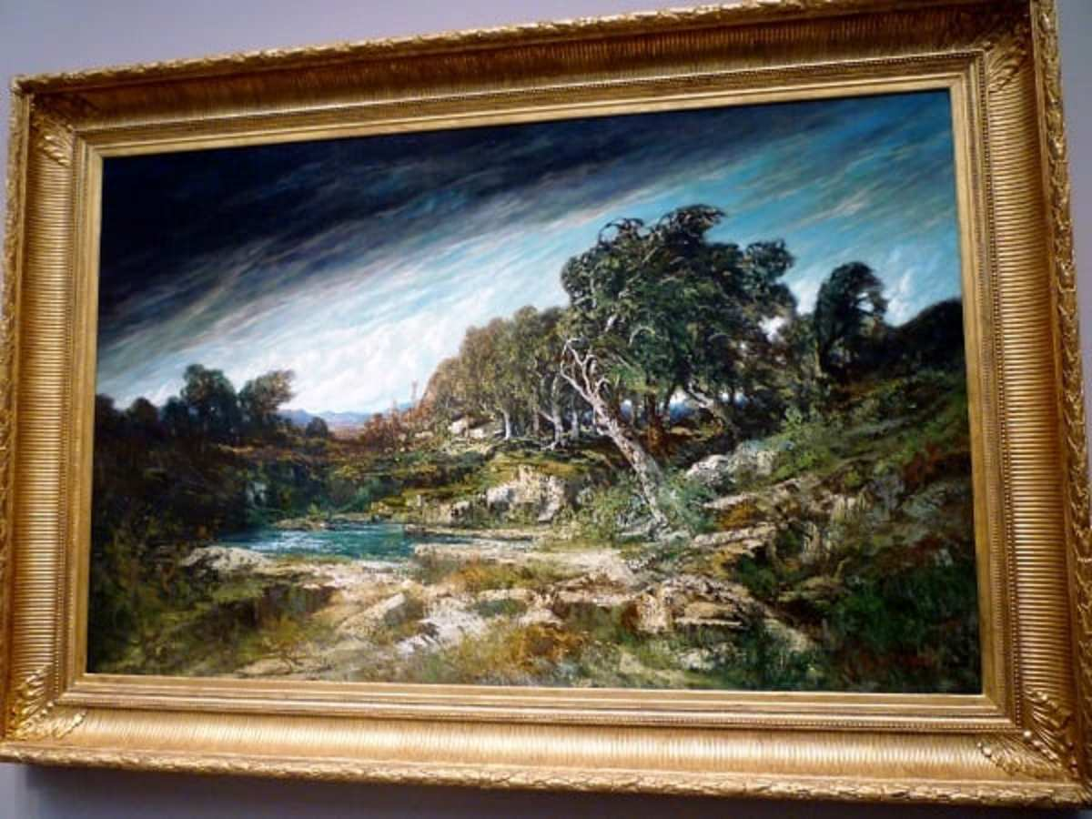 The Gust of Wind by Gustave Courbet at the Museum of Fine Arts Houston