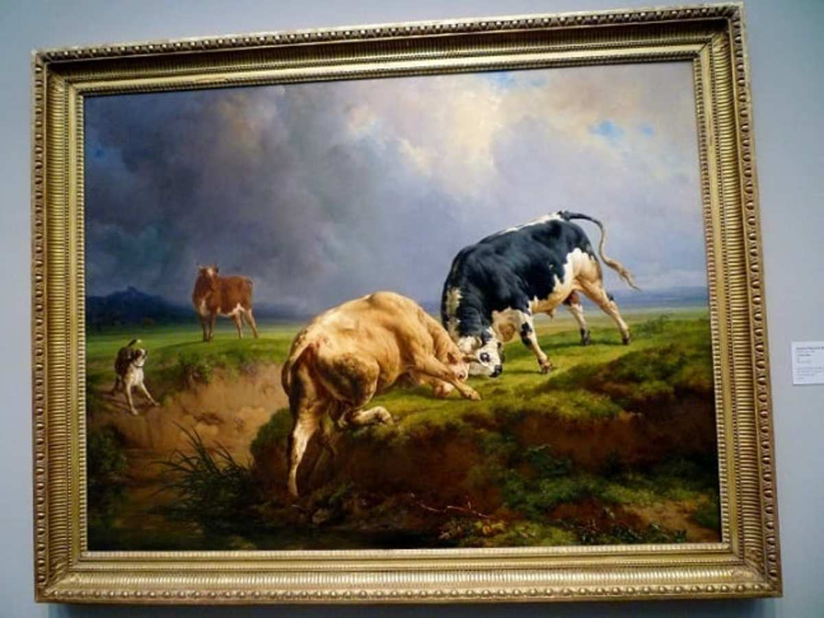 A Bull Fight by Jacques-Raymond Brascassat at the Museum of Fine Arts Houston