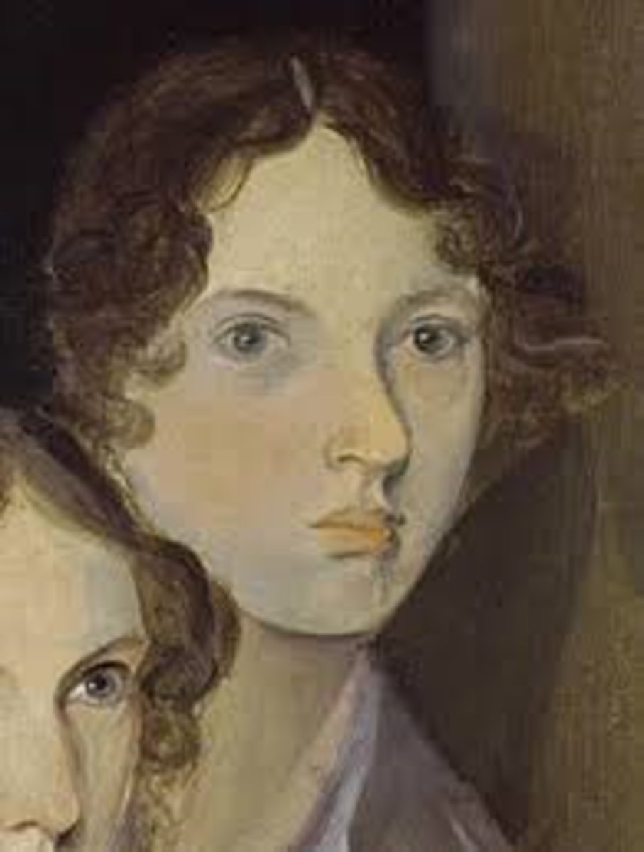 Emily Bronte painted by her brother Branwell Bronte (the only known authentic portrait of Emily)