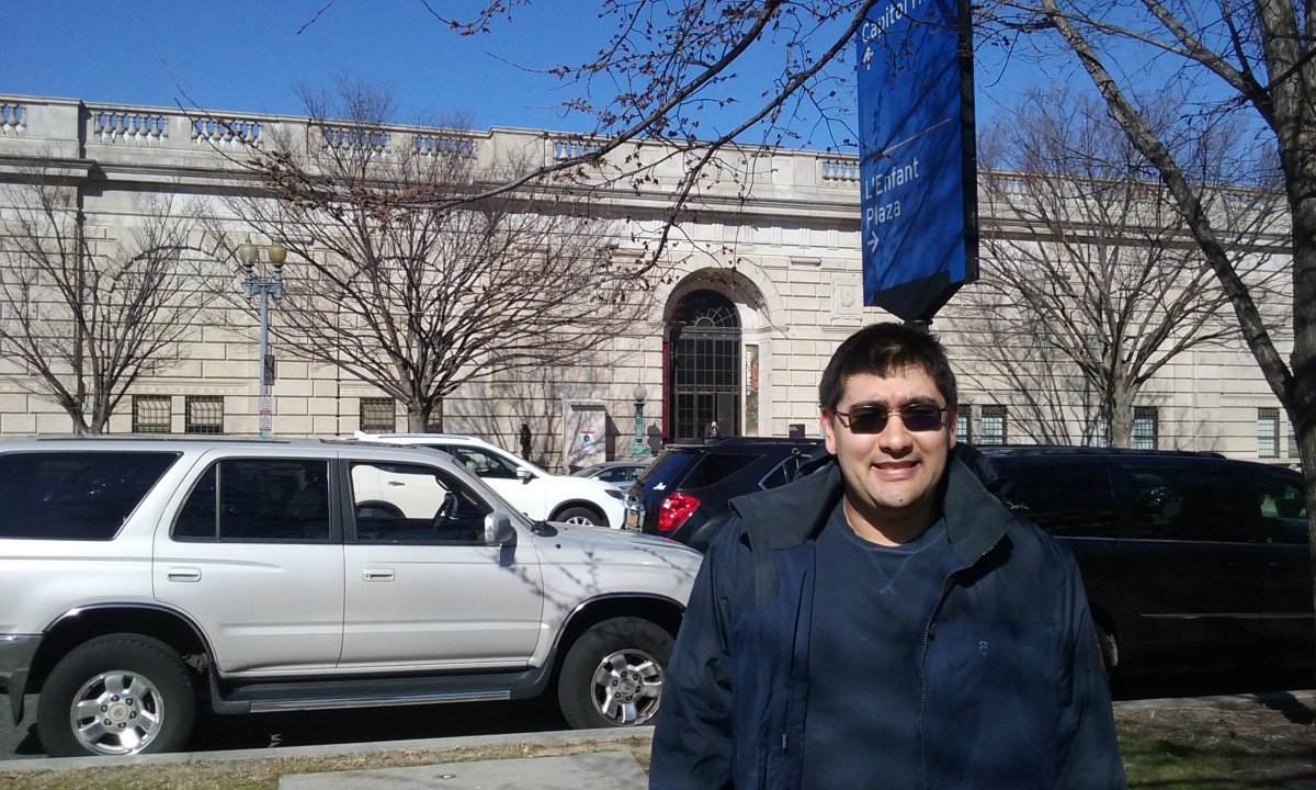 Outside the museum, February 2020