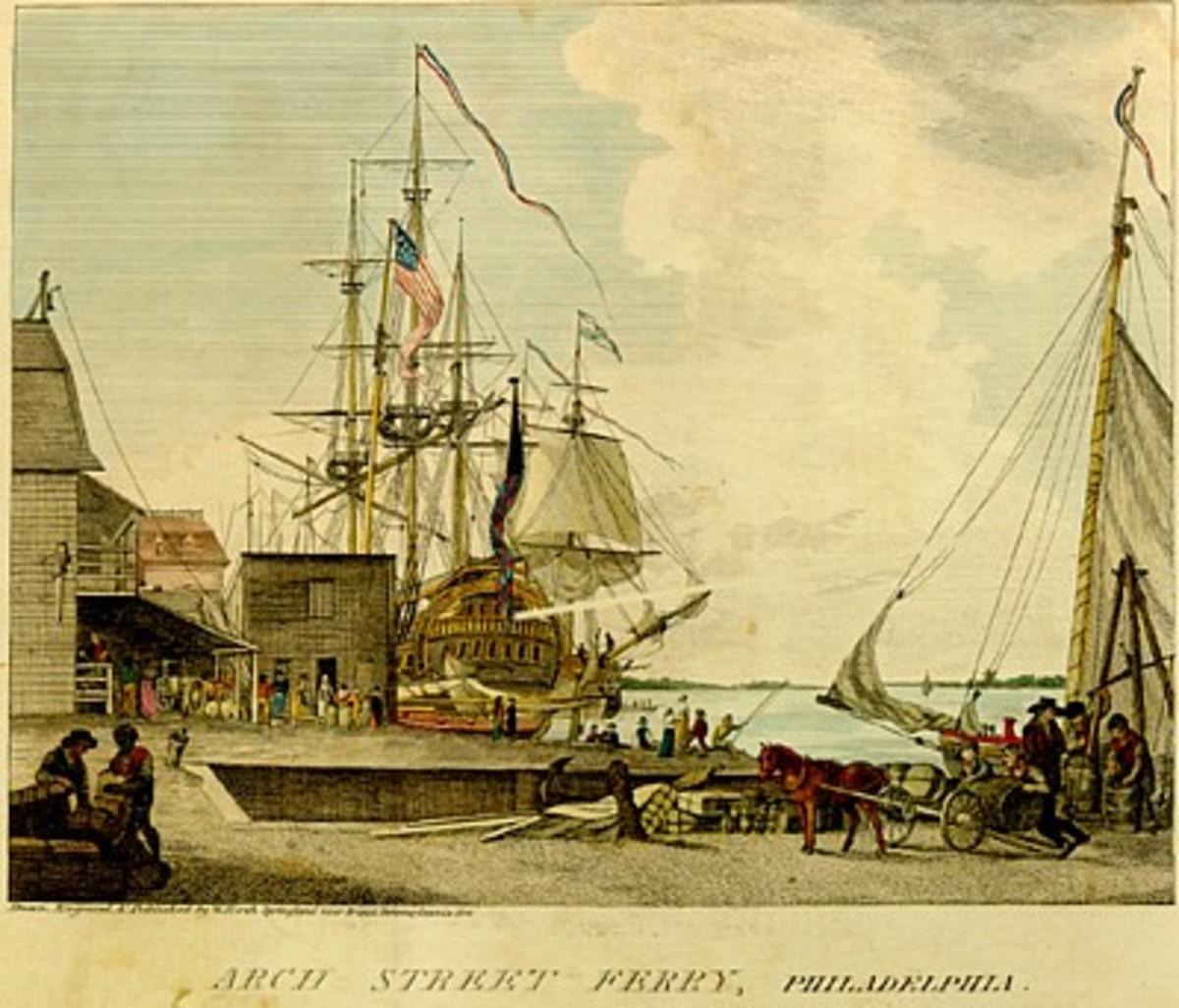 Philadelphia Docks; gateway for an epidemic.